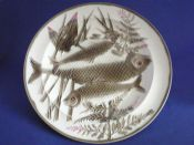 Quality Wedgwood 'Argenta' Majolica Fish Plate c1880